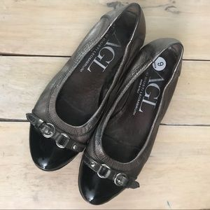 AGL Leather Flats
